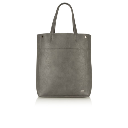 Sandwich Clothing Faux Leather Shoulder Bag - Grey