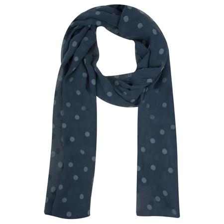 Grizas Spot Silk Devore Scarf - Blue