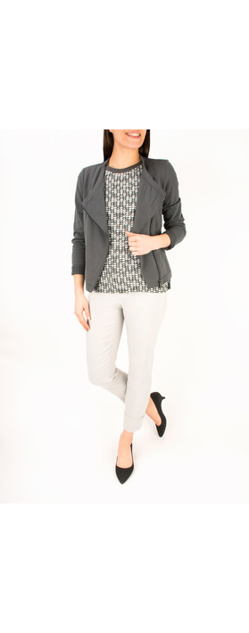 Sandwich Clothing French Terry Cotton Jacket Grey Magnet