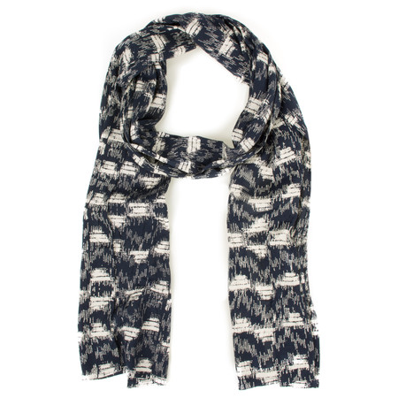 Masai Clothing Abstract Square Along Scarf - Blue