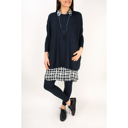 Masai Clothing Longline Iga Blouse - Blue