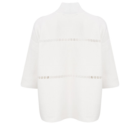 French Connection Milano Mozart Long Sleeve High Neck Jumper - White