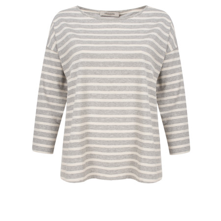 Great Plains Take It Easy Oversized Striped T-Shirt - Blue