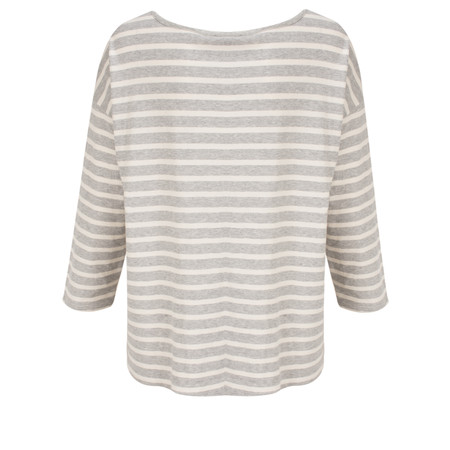 Great Plains Take It Easy Long Sleeve Striped Tee - Blue