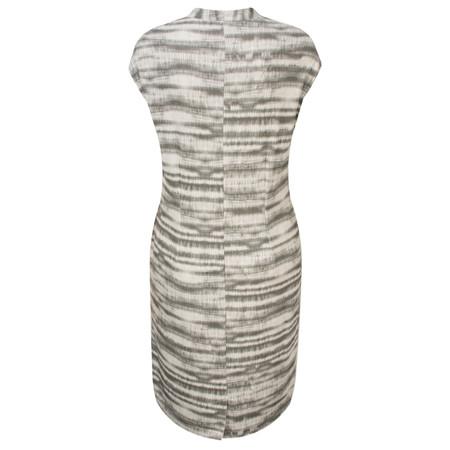 Great Plains Sonar Stripe Low V Neck Dress - Black