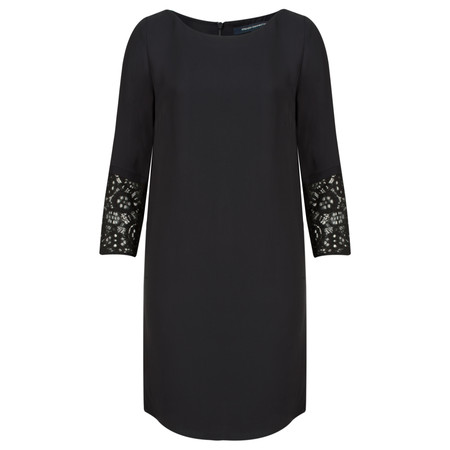 French Connection Ensore Crepe Long Sleeve Tunic Dress - Blue