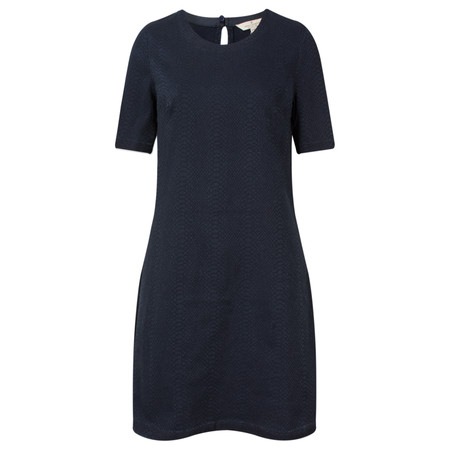 French Connection Animal Jacquard Denim Short Sleeve Dress - Blue
