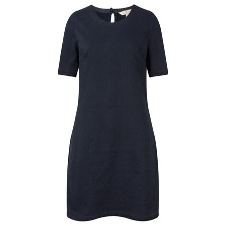 French Connection Animal Jacquard Denim Short Sleeve Dress - Blue