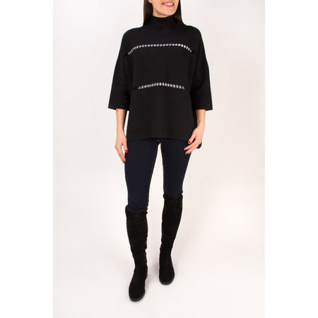 French Connection Milano Mozart Long Sleeve High Neck Jumper - Black
