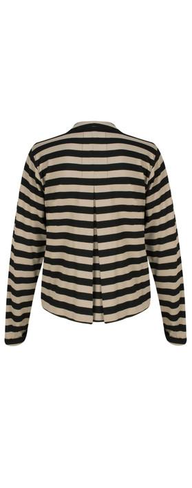 Masai Clothing Jersey Stripe Ilby Jacket Khaki Org