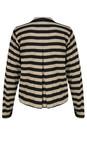 Masai Clothing Khaki Org  Jersey Stripe Ilby Jacket