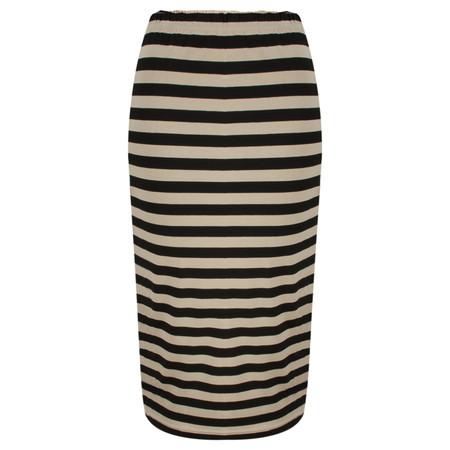 Masai Clothing Jersey Stripe Samara Skirt - Brown