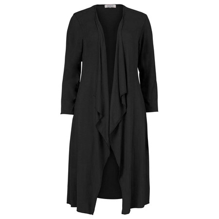 Masai Clothing Ibone Long Fitted Jersey Cardi - Black