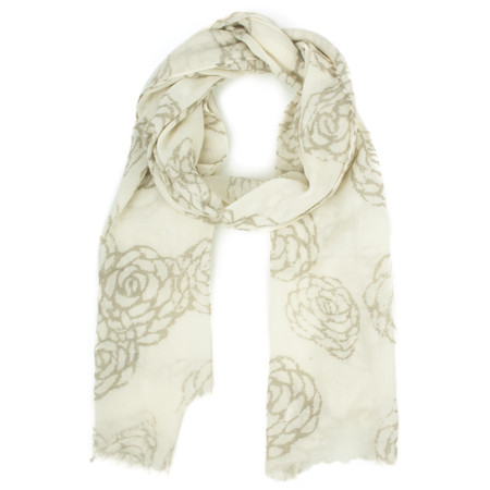 Masai Clothing Floral Awool Scarf - Brown