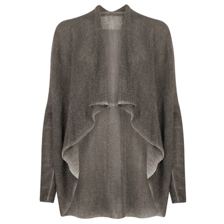 Grizas Oliato Linen Knit Waterfall Cardi - Grey