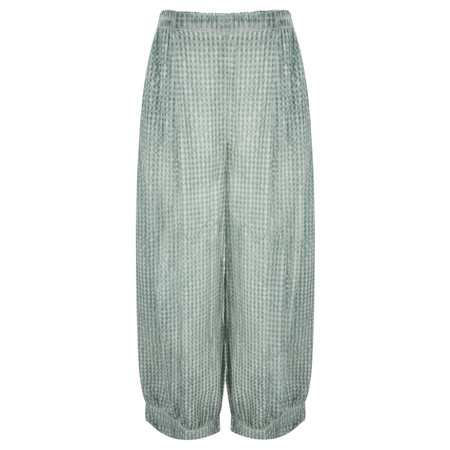 Grizas Oliato Check Loosefit Cuffed Trouser  - Blue