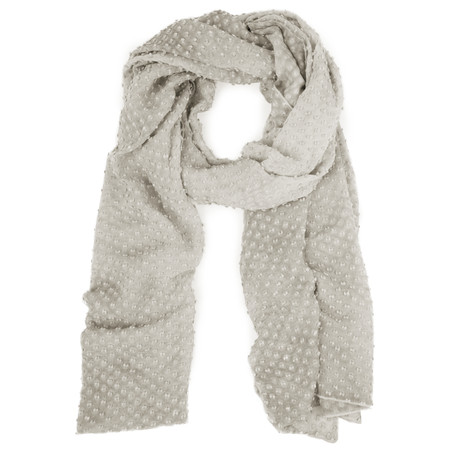 Grizas Oliato Silk Linen Dot Scarf - Grey