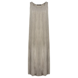 Grizas Oliato Crinkle Silk Long Dress