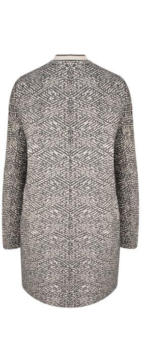 Sandwich Clothing Jacquard Print Jacket Grey Magnet