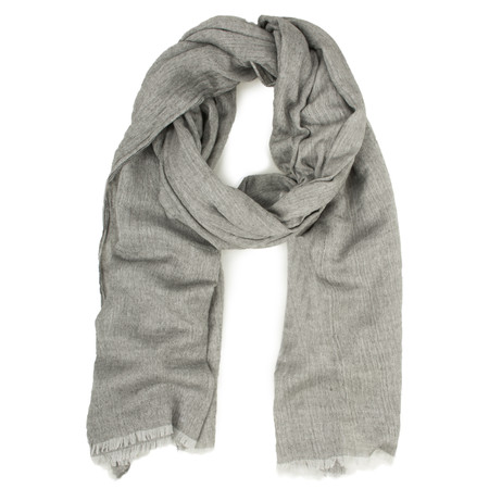 Sandwich Clothing Woven Wool Mix Scarf - Grey