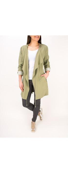 Sandwich Clothing Longline Waterfall Jacket Sage Green