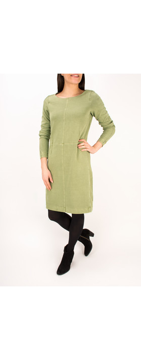 Sandwich Clothing French Terry Jersey Dress Sage Green