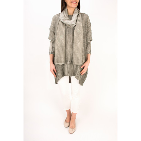 Grizas Oliato Silk Crinkle LS Tunic - Grey