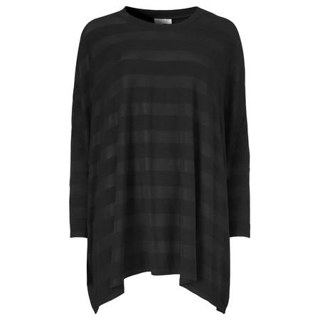 Masai Clothing Diona Oversize Stripe Top - Black