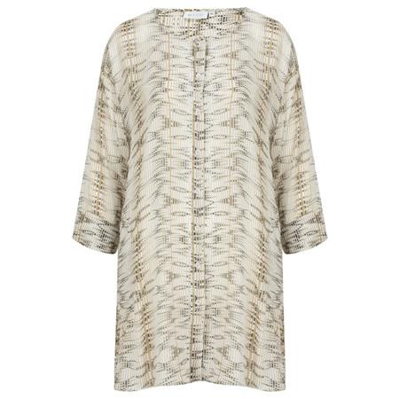 Masai Clothing Idona Print Blouse - Brown