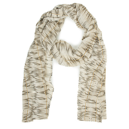 Masai Clothing Along Print Scarf - Brown