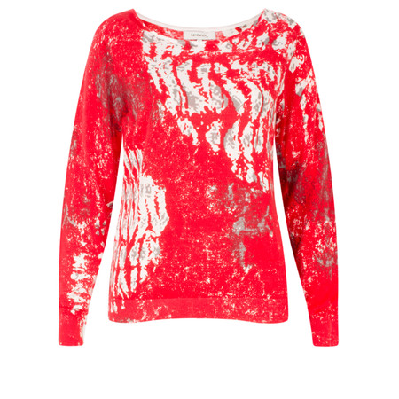 Sandwich Clothing Abstract Printed Cotton Jumper - Red