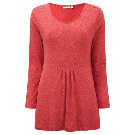 Adini Coral Print Marine Tunic - Orange
