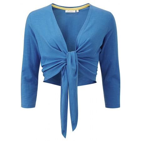 Adini Solid Slub Rhea Wrap - Blue