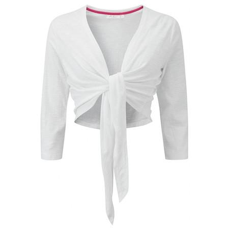 Adini Solid Slub Rhea Wrap - White