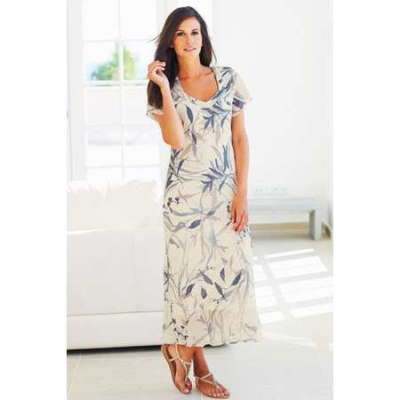 Adini Freya Print Freya Dress - Off-white