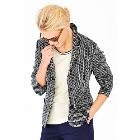 Adini Brompton Weave Bury Jacket - Blue