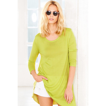 Adini Bamboo Cotton Pearl Tunic - Green