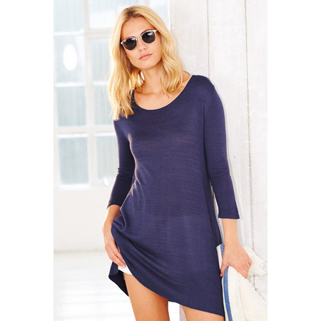 Adini Bamboo Cotton Pearl Tunic - Blue