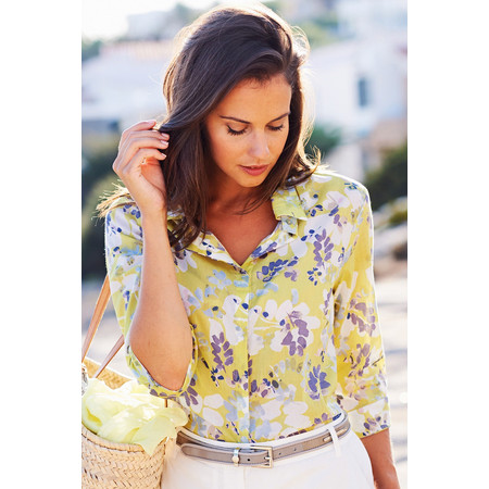 Adini Florida Print Venice Top - Green