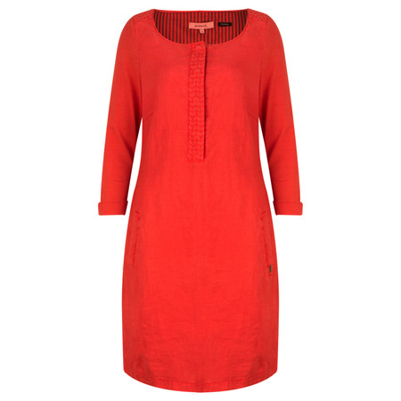 Sandwich Clothing Linen Jersey Dress - Red