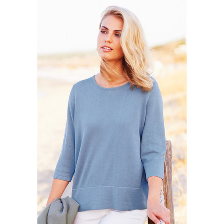 Adini Linen Cotton Surf Top - Blue