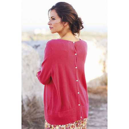 Adini Linen Cotton Surf Top - Poppy
