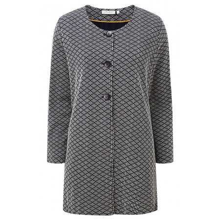 Adini Brompton Weave Onslow Coat - Blue