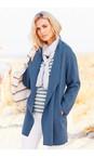 Adini Dusky Blue Spring Wool Alessio Coat