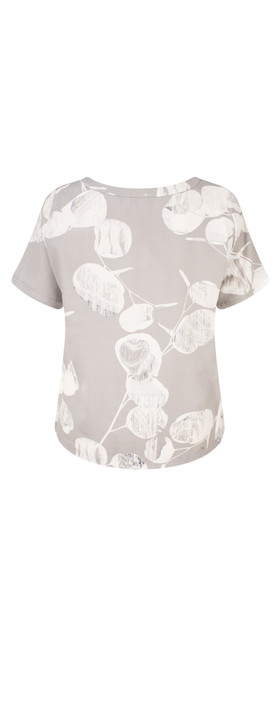 Sandwich Clothing Woven Floral Print Top Light Stone