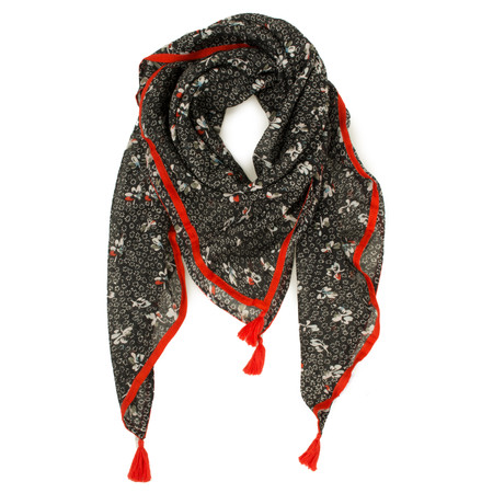Great Plains Scatter Floral Scarf - Black