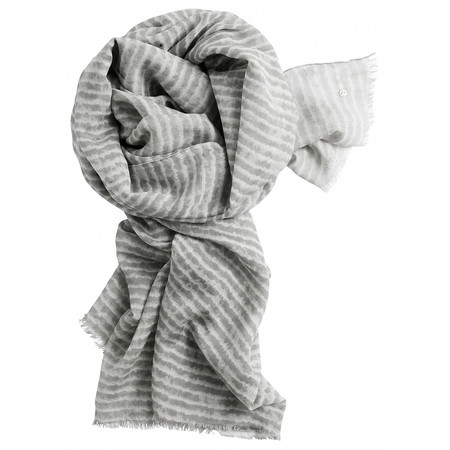 Sandwich Clothing Silk & Wool Mix Stripe Scarf - Off-white