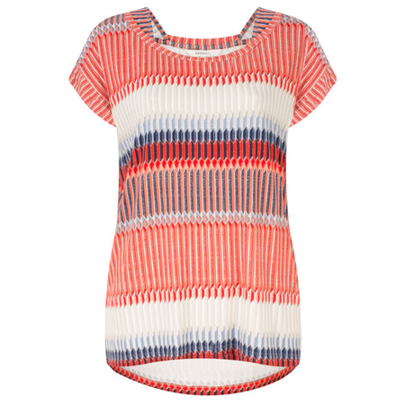 Sandwich Clothing Abstract Stripe Jersey Tshirt - Red