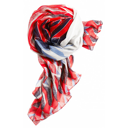 Sandwich Clothing Abstract Geometric Print Scarf - Red