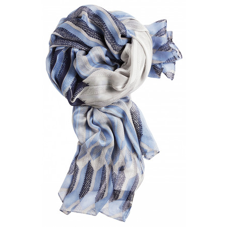 Sandwich Clothing Abstract Geometric Print Scarf - Blue